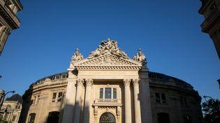 Le futur musée d'art contemporain de François Pinault est situé dans l'ancienne bourse de commerce de Paris, dans lequartier des Halles. (ROMUALD MEIGNEUX/SIPA)