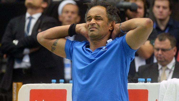 Et si Yannick Noah n'était plus capitaine de Coupe Davis en 2017 ? (MICHAL CIZEK / AFP)