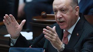 Recep Tayyip Erdogan, le président turc, le 21 avril 2021, à Ankara. (ADEM ALTAN / AFP)