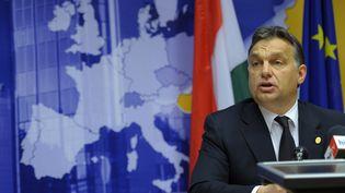 Le Premier ministre hongrois Viktor Orban, le 9 décembre 2011 à Bruxelles. (PHILIPPE WOJAZER / REUTERS)
