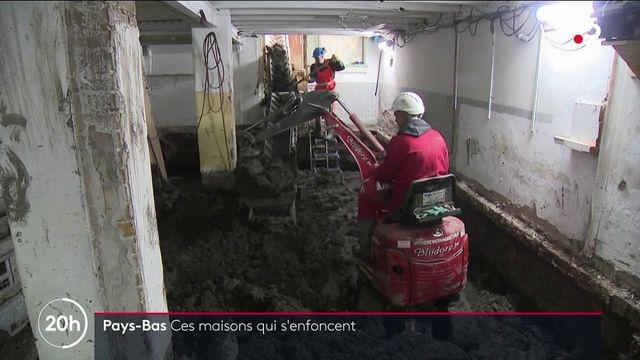 aux Pays-Bas les maisons s'enfoncent dans le sol