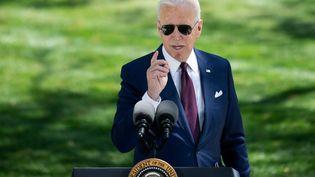 Le président américain Joe Biden à la Maison Blanche à Washington, le 27 avril 2021. (BRENDAN SMIALOWSKI / AFP)