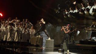 Shaka Ponk sur scène aux Victoires de la Musique 2019.  (Studio France Télévisions)