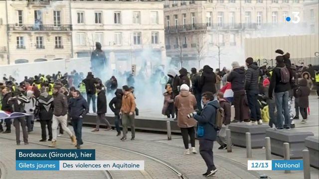 """""""Gilets jaunes"""" : des violences en Aquitaine"""