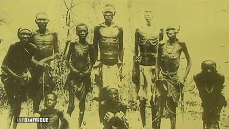 Prisonniers héréros pendant la répression de la rébellion (1904-1907) (DR (capture d'écran du sujet d'AITV du 10-10-2013))