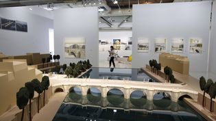 """L'exposition """"Christo et Jeanne-Claude, Paris !"""" à Beaubourg. (THIBAULT CAMUS/AP/SIPA / SIPA)"""