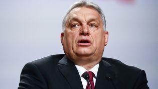Le Premier ministre hongrois, Viktor Orban, le 17 février 2021 à Cracovie (Pologne). (BEATA ZAWRZEL / NURPHOTO)