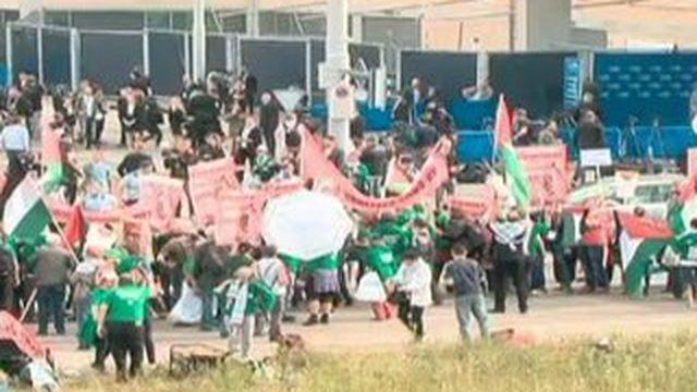 Congrès de la Fifa : des pro-palestiniens manifestent pour faire suspendre Israël
