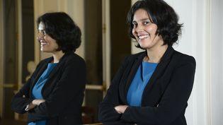 Myriam El Khomri, alors secrétaire d'Etat à la Ville, dans son bureau, le 27 novembre 2014. (BERTRAND GUAY / AFP)