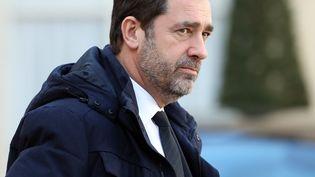 Le ministre de l'Intérieur, Christophe Castaner, le 13 février 2019 au palais de l'Elysée, à Paris. (MUSTAFA YALCIN / ANADOLU AGENCY / AFP)