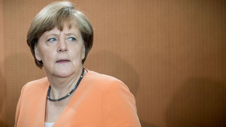 La chancelière allemande, Angela Merkel, à Berlin, le 1er juillet 2015. (MICHAEL KAPPELER / AFP)