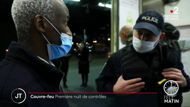 Couvre-feu: première nuit de contrôles de police
