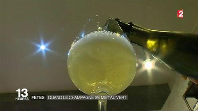 Fêtes : quand le champagne se met au vert