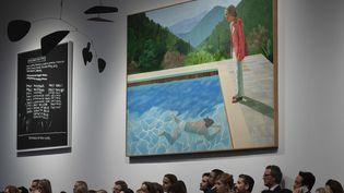 Une toile du peintre britannique David Hockney vendue 90,3 millions de dollars  (Don EMMERT / AFP)
