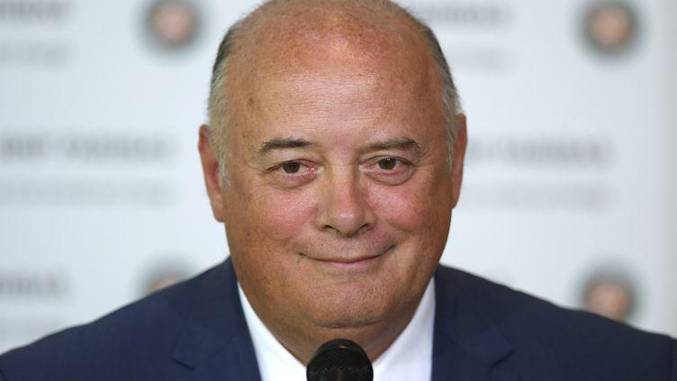 Bernard Giudicelli, le président de la FFT, a été condamné à 10.000 euros d'amende pour diffamation à l'encontre de Gilles Moretton (GABRIEL BOUYS / AFP)