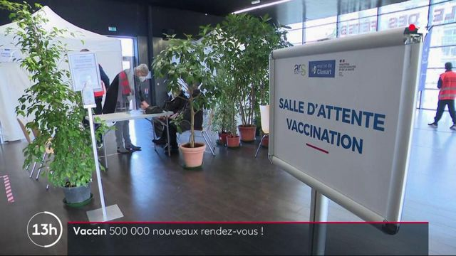 Vaccin contre le Covid-19 : 500 000 nouveaux rendez-vous disponibles d'ici fin février