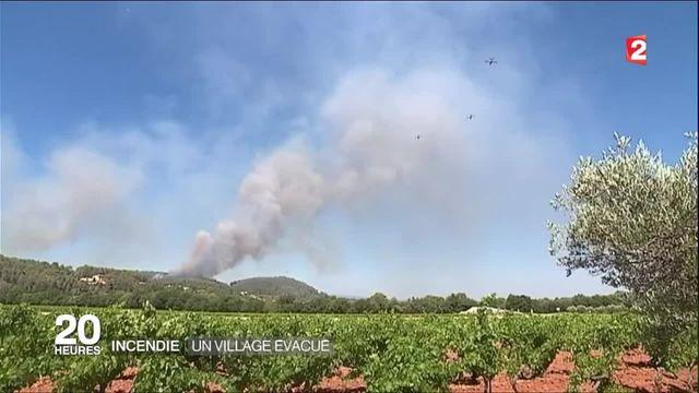 Incendie dans le Var : les habitants de Montfort-sur-Argens évacués