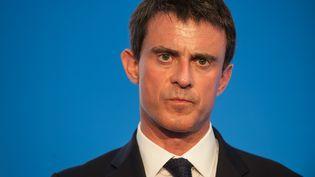 Une photo du Premier ministre Manuel Valls à Poitiers, le 4 mai 2015 ( JEAN MICHEL NOSSANT / SIPA)
