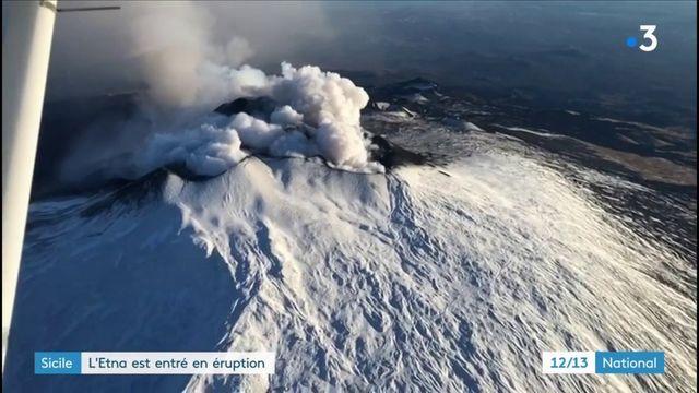 Sicile : l'Etna en entré en éruption
