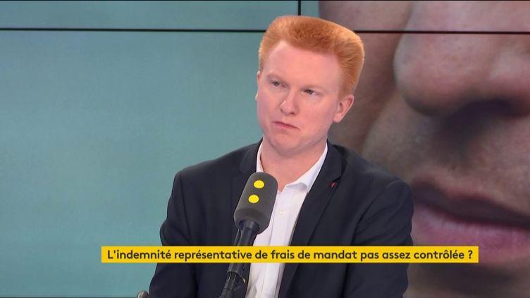 Le député du Nord, Adrien Quatennens, invité politique de franceinfo le 17 juillet 2019. (FRANCEINFO / RADIOFRANCE)