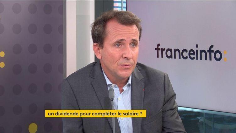 Thibault Lanxade,PDG du groupe Jouve, le 15 octobre 2021 sur franceinfo. (FRANCEINFO / RADIOFRANCE)