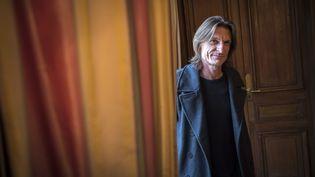 L'écrivain Marcus Malte, à Paris le 25 octobre 2016, jour de l'obtention de son prix Femina (LIONEL BONAVENTURE / AFP)