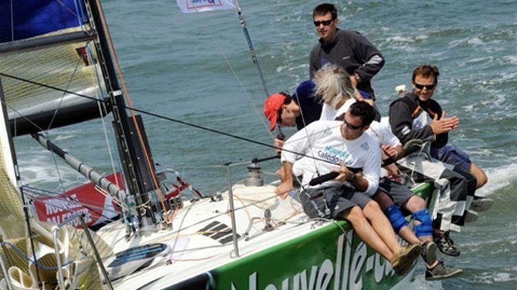 Nouvelle-Calédonie, avec pour skipper Bertrand Pacé et Vincent Portugal