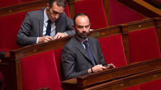 Edouard Philippe, député-maire Les Républicains du Havre, sur son banc de l'Assemblée nationale le 20 octobre 2015 (MAXPPP)