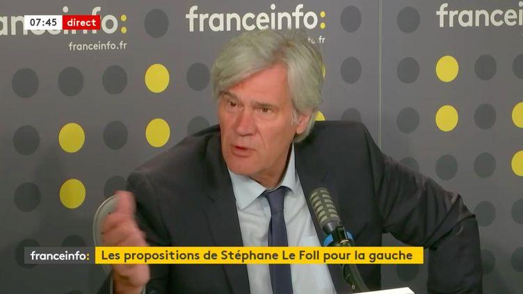 Stéphane Le Foll, maire du Mans et ancien ministre socialiste, invité de franceinfo mercredi 22 juillet 2020. (FRANCEINFO / RADIOFRANCE)