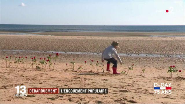 Débarquement : l'hommage des anonymes venus jusqu'en Normandie