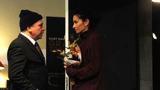 Philippe Torretion et Rachida Brakni en répétition  (© Sonia Barcet)