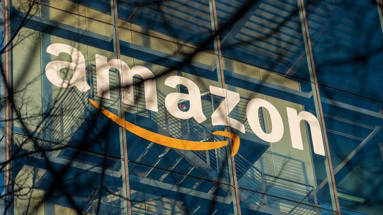 Une vue du siège allemand d'Amazon, à Munich, en 2019. (ALEXANDER POHL / NURPHOTO / AFP)