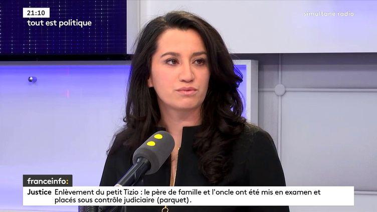 Lydia Guirous, porte-parole du parti Les Républicains, invitée de franceinfo le 8 janvier 2018. (FRANCE INFO)