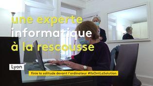 A Lyon, une experte en informatique donne des cours particuliers aux seniors (France 3 Rhône-Alpes)