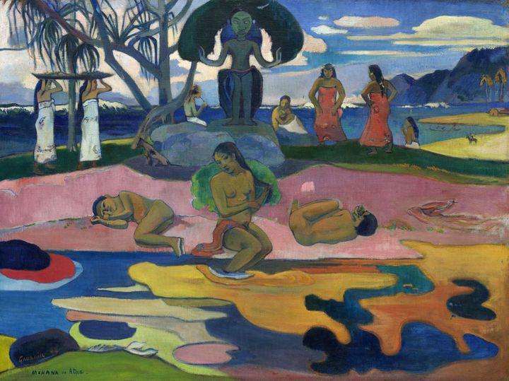 """Paul Gauguin, """"Mahana no atua (Le jour de Dieu)"""", 1894, Chicago, the Art Institute, Helen Birch Bartlett Memorial Collection  (the Art Institute of Chicago)"""