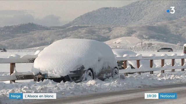 Intempéries : l'Alsace recouverte de neige