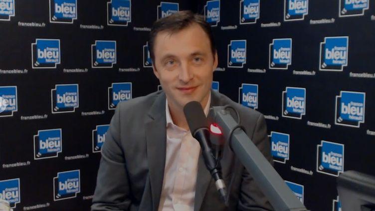 Sébastien Rome était l'invité de France Bleu Hérault le 13 mars 2019. (Capture d'écran France Bleu Hérault)