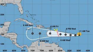 La tempête tropicale Isaac continue sa progression vers les Antilles. (NHC)