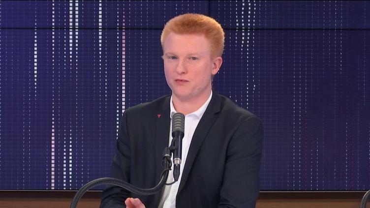 """Adrien Quatennens,député du Nord et coordinateur de La France insoumise était l'invité du """"8h30franceinfo"""", lundi 9novembre 2020. (FRANCEINFO / RADIOFRANCE)"""