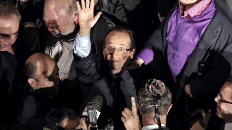 François Hollande vient de remporter les primaires au PS, le 16 octobre 2011. (Afp)