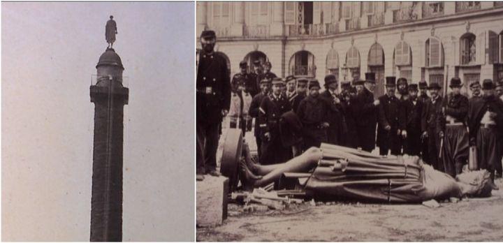 La chute de la colonne Vendôme captée par Bruno Braquehais minute par minute  (Ville de Dieppe)