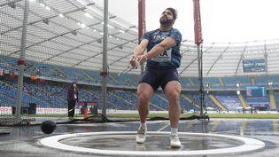Quentin Bigot vise la finale du lancer de marteau lundi 2 août aux Jeux Olympiques de Tokyo. (STEPHANE KEMPINAIRE / KMSP / AFP)
