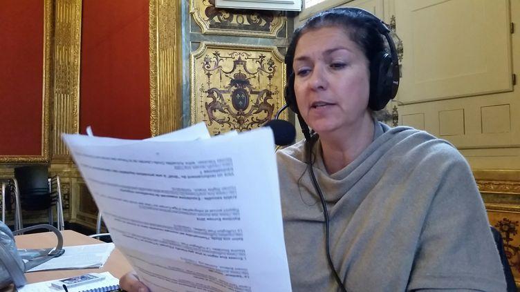 (Nathalie Bourrus au palais de justice de Rennes  © Nicolas Mathias - Radio France)
