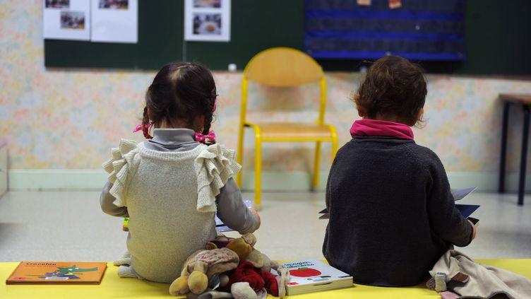 Deux enfants d'une école maternelle de Firmi (Aveyron), le 14 janvier 2013. (ERIC CABANIS / AFP)