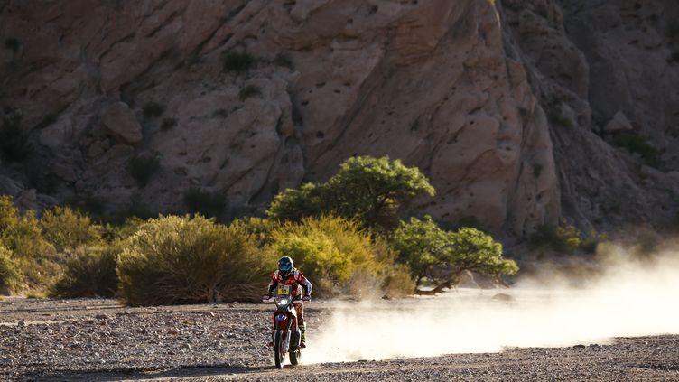 Le pilote espagnol Joan Barreda Bort (Honda) sur le Dakar 2017 (FLORENT GOODEN / DPPI MEDIA)