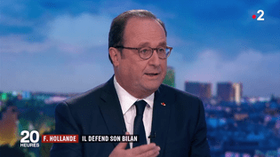"François Hollande, invité du ""20 Heures"" de France 2, le 10 avril 2018. (FRANCE 2)"