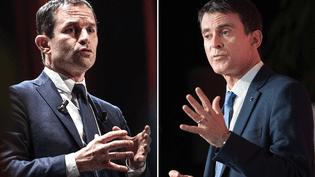 Les deux finalistes de la primaire de la gauche, Benoît Hamon et Manuel Valls. (SIPA)
