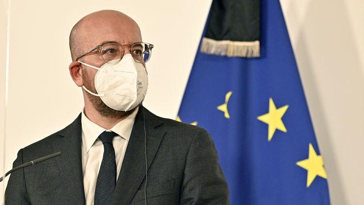 Le président du Conseil européen Charles Michel, le 9 novembre 2020 à Vienne (Autriche). (HANS PUNZ / APA / AFP)