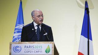 Le ministre des Affaires étrangères français et président de la COP21, Laurent Fabius, le 30 novembre 2015. (ZHOU LEI / NURPHOTO)