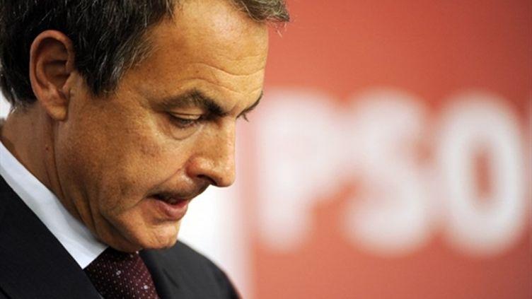 José Luis Rodriguez Zapatero, le chef du gouvernement socialiste espagnol, dimanche 22 mai 2011. (AFP)